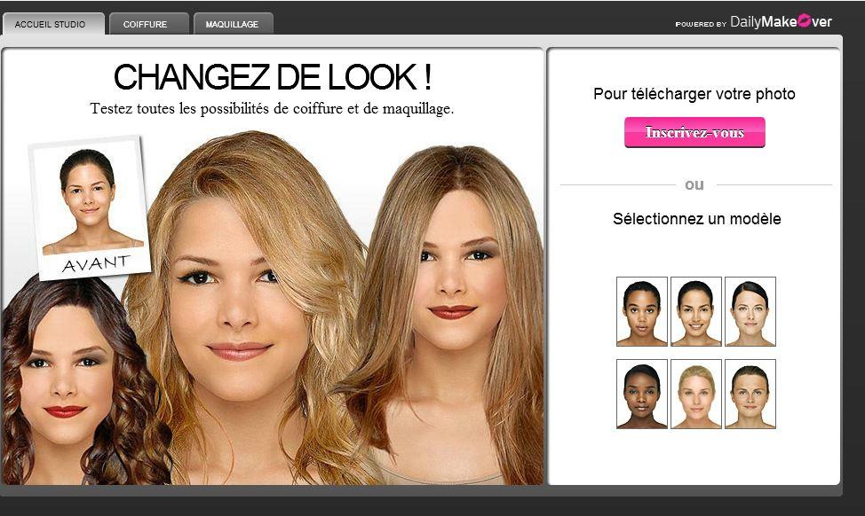 Application test couleur cheveux